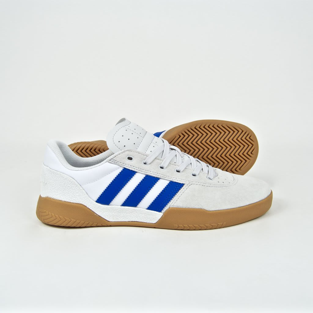 Adidas Skateboarding - City Cup Shoes - Crystal White / Blue / Gum 4 | Shoes by adidas Skateboarding 2