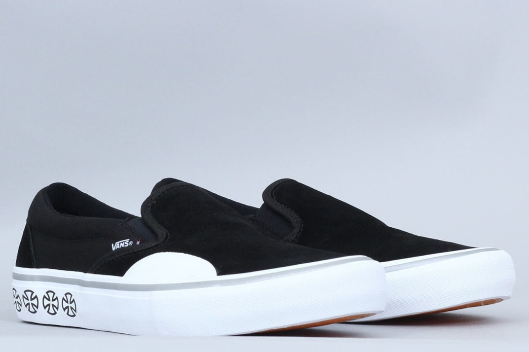 Vans Slip On Pro Shoes (Suede) RedWhite   Decade – Decade Store