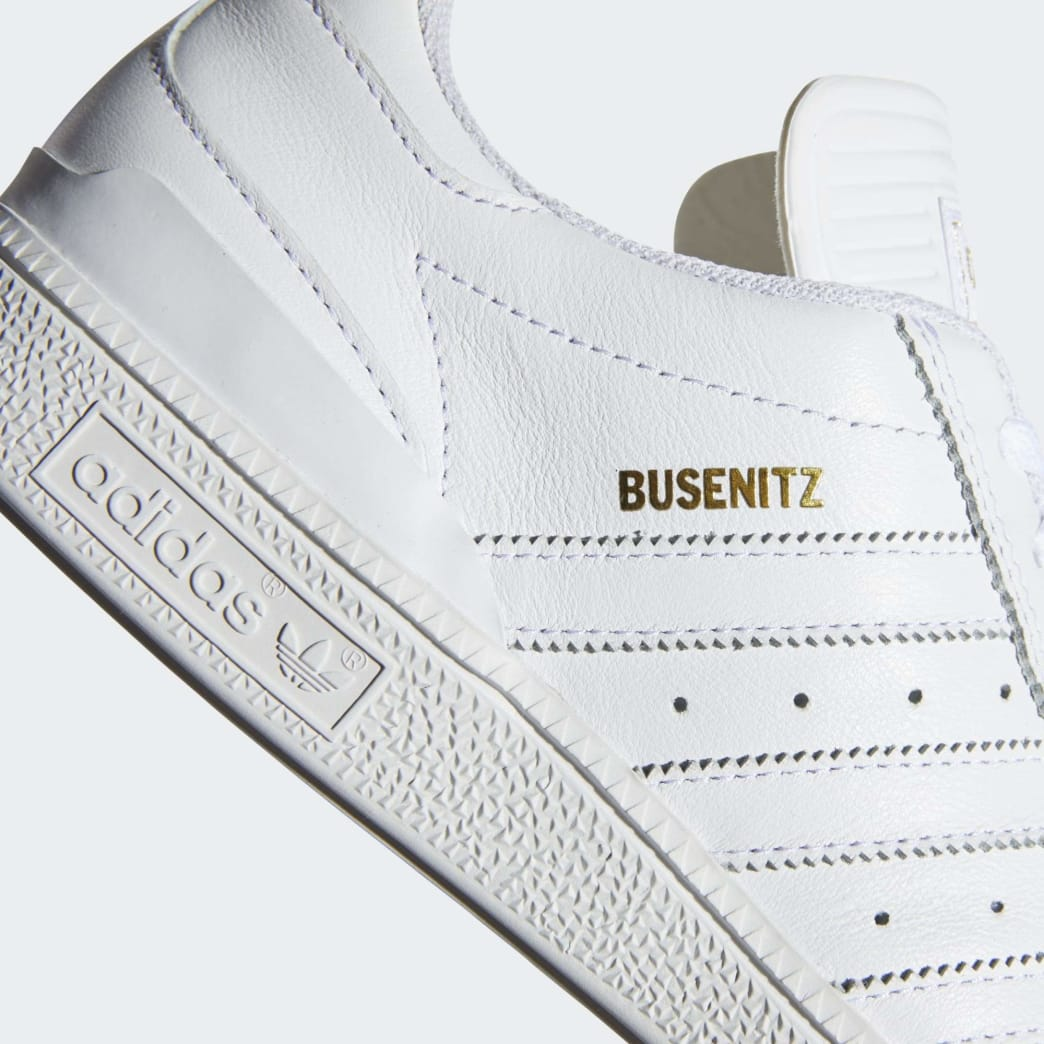 Adidas Busenitz Shoes - Cloud White/Gold Metallic/Cloud White | Shoes by adidas Skateboarding 8