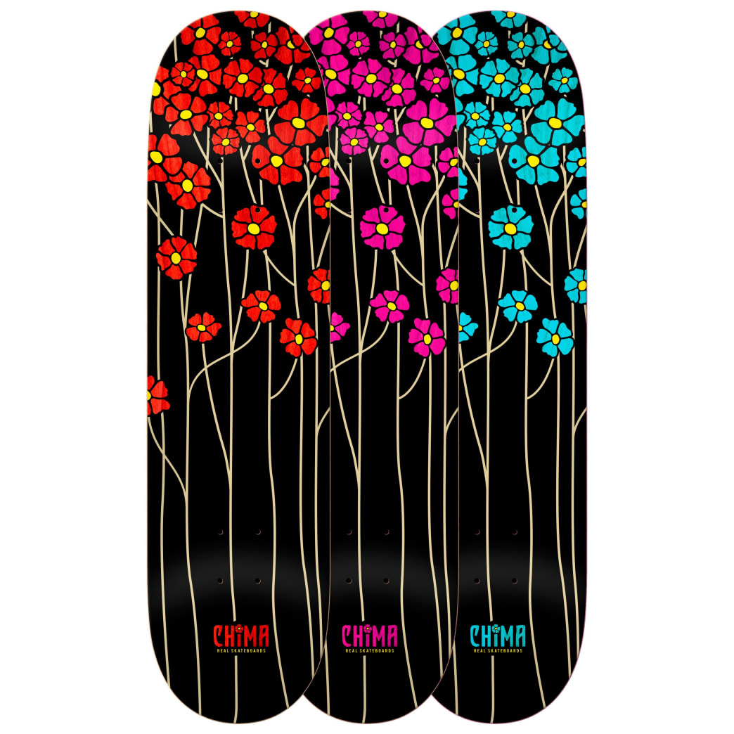 Real Chima Ferguson Poppy Fields Redux Skateboard Deck - 8.06"