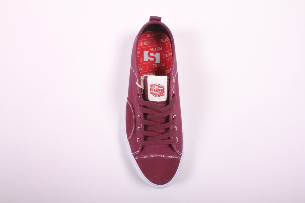 State Harlem x Politic Black Cherry Canvas/Suede | Shoes by State Footwear 2