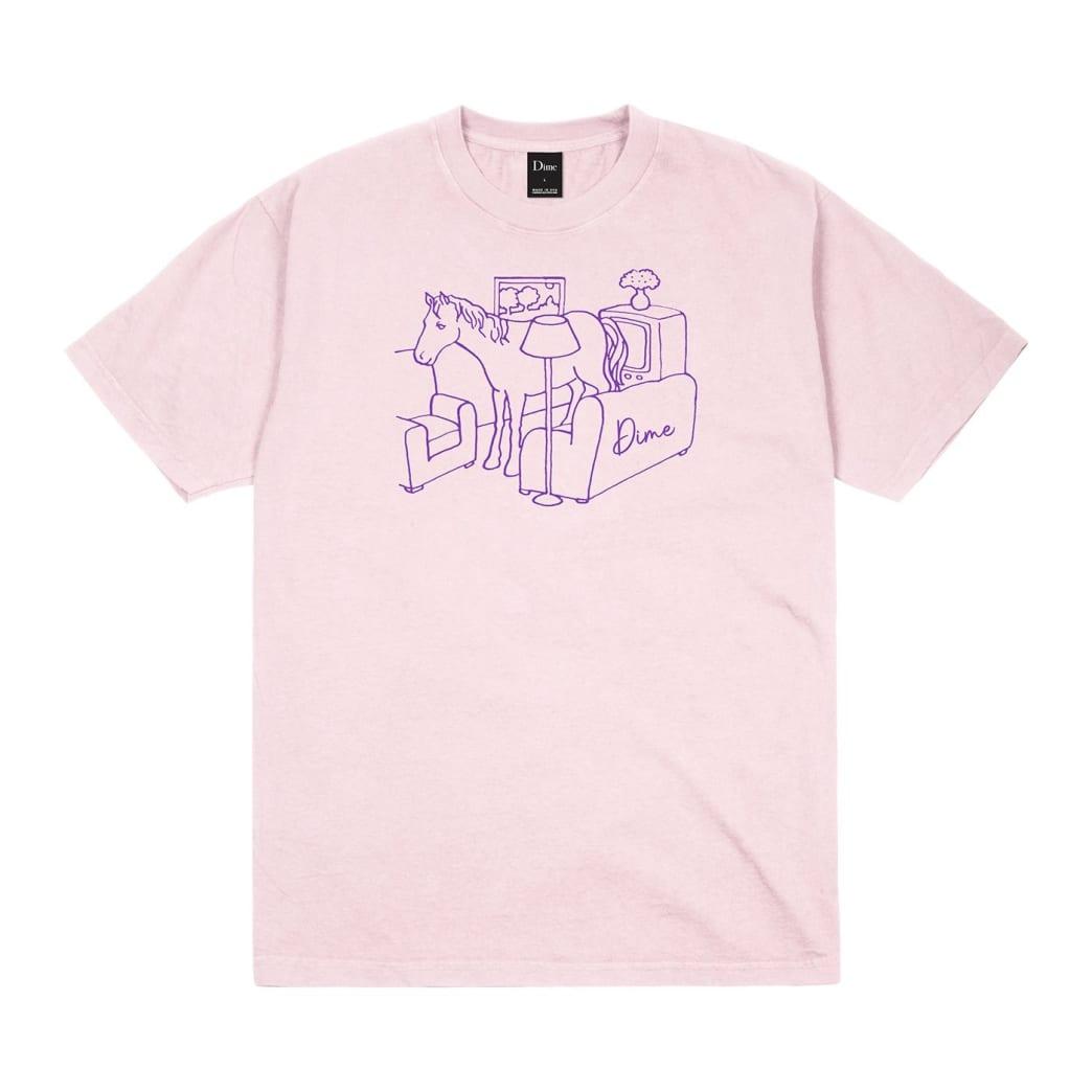 Dime Horse T-Shirt - Light Pink   T-Shirt by Dime MTL 1