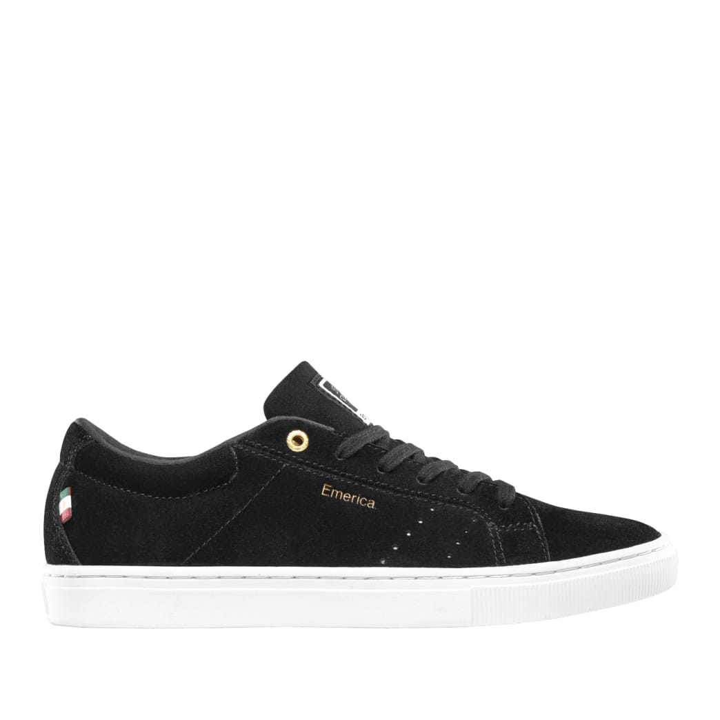 Emerica Americana Skate Shoes - Black / White / Gold | Shoes by Emerica 1