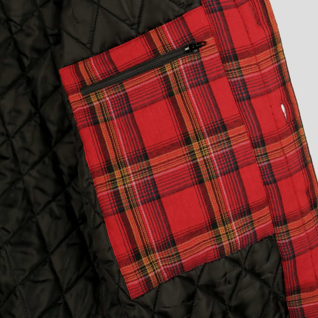 Pass~Port Late Quilted Flannel Jacket - Red | Jacket by Pass~Port Skateboards 5