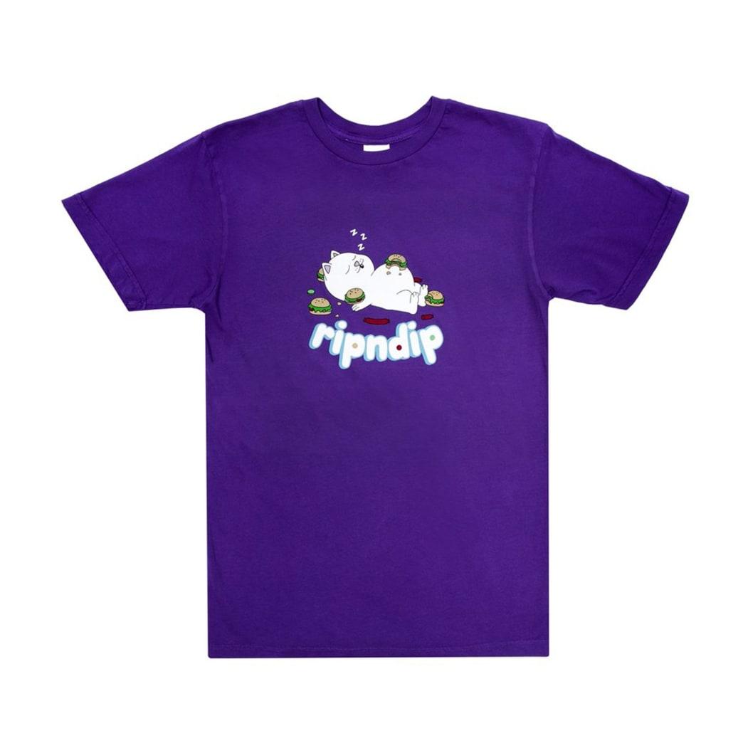 Rip N Dip Fat Hungry Baby T-Shirt - Purple | T-Shirt by Ripndip 1