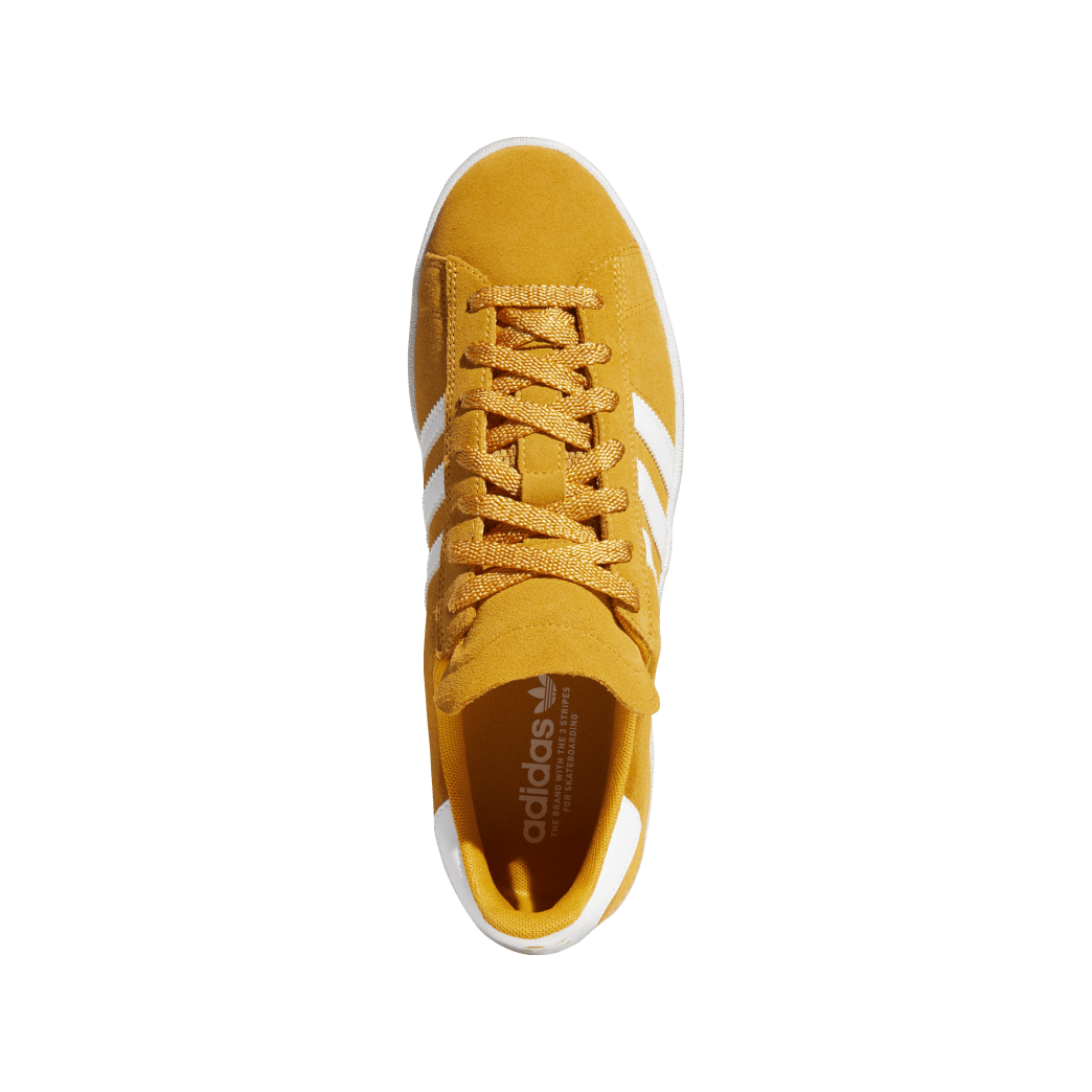 adidas Campus ADV Skate Shoes - Tactile Yellow / Cloud White / Gold Metallic | Shoes by adidas Skateboarding 3