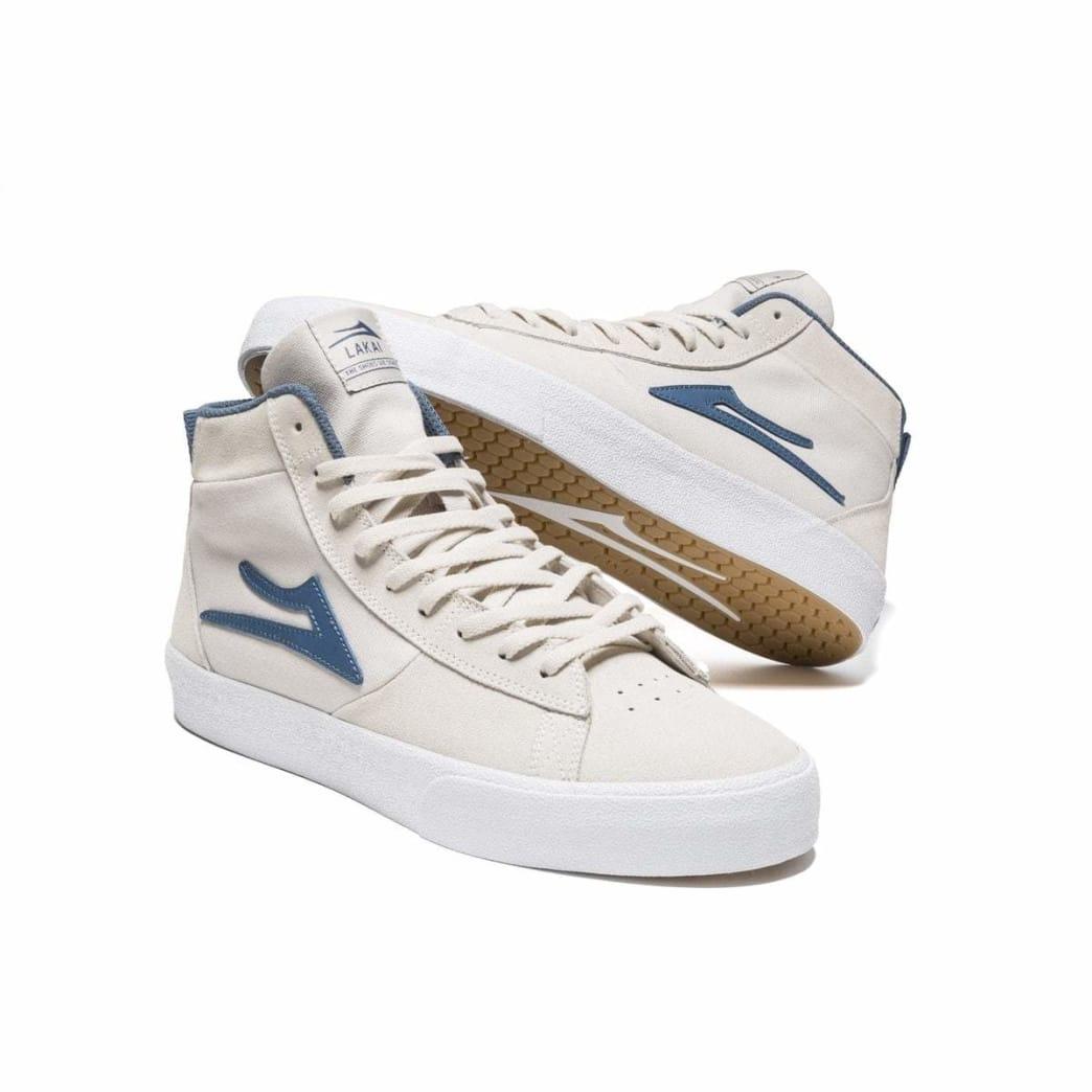 Lakai Newport Hi Suede Skate Shoe - White | Shoes by Lakai 4