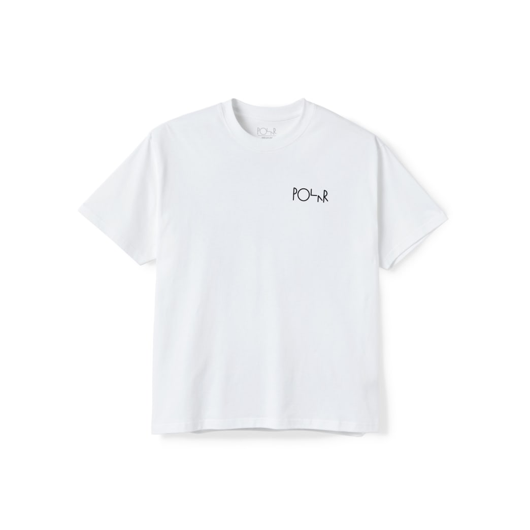 Polar Skate Co Stroke Logo T-Shirt - White | T-Shirt by Polar Skate Co 2
