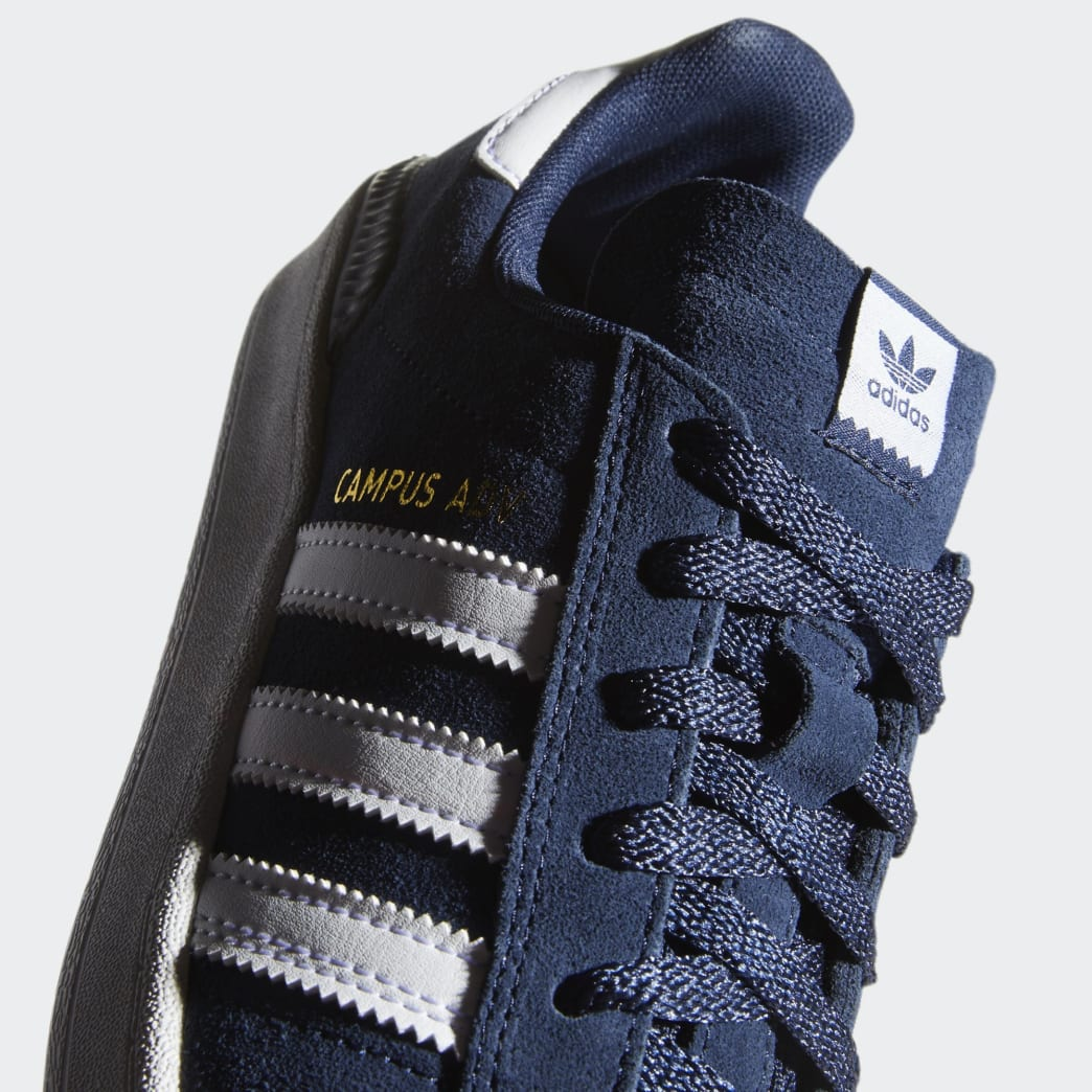 Adidas Campus ADV Shoes - Collegiate Navy/Cloud White/Cloud White | Shoes by adidas Skateboarding 7