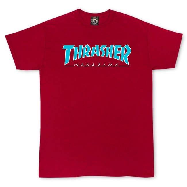 Thrasher Magazine- Outlined Tee- Cardinal | T-Shirt by Thrasher 1