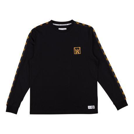 Welcome Skateboards Chalice Taped Long Sleeve Knit - Black / Gold | Longsleeve by Welcome Skateboards 1