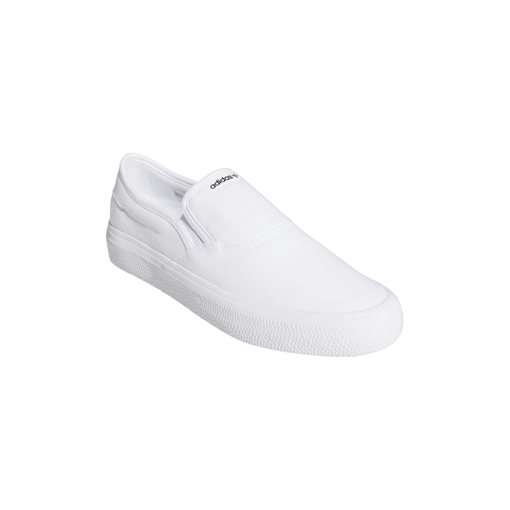adidas 3MC Slip-On Skate Shoes - Cloud White / Cloud White / Core Black | Shoes by adidas Skateboarding 6