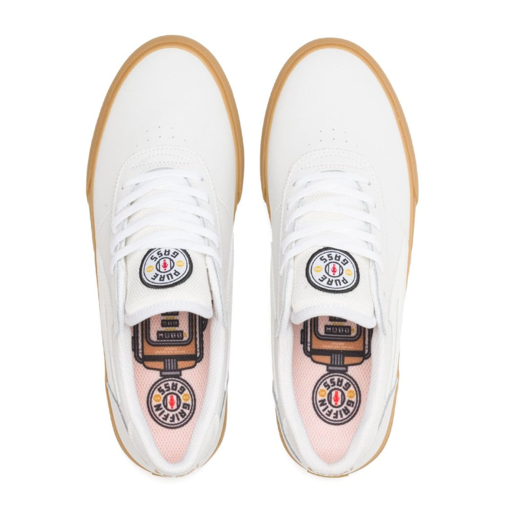 Lakai Manchester Griffin Gass Leather Skate Shoes - White | Shoes by Lakai 3