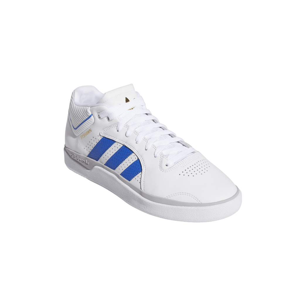 adidas Tyshawn Jones Skate Shoes - Cloud White / Blue / Gold Metallic | Shoes by adidas Skateboarding 5