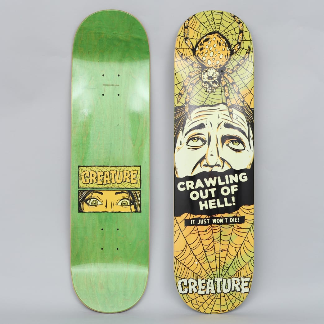 Creature 8.375 Horror Feature Medium Skateboard Deck Black / Yellow | Deck by Creature Skateboards 1