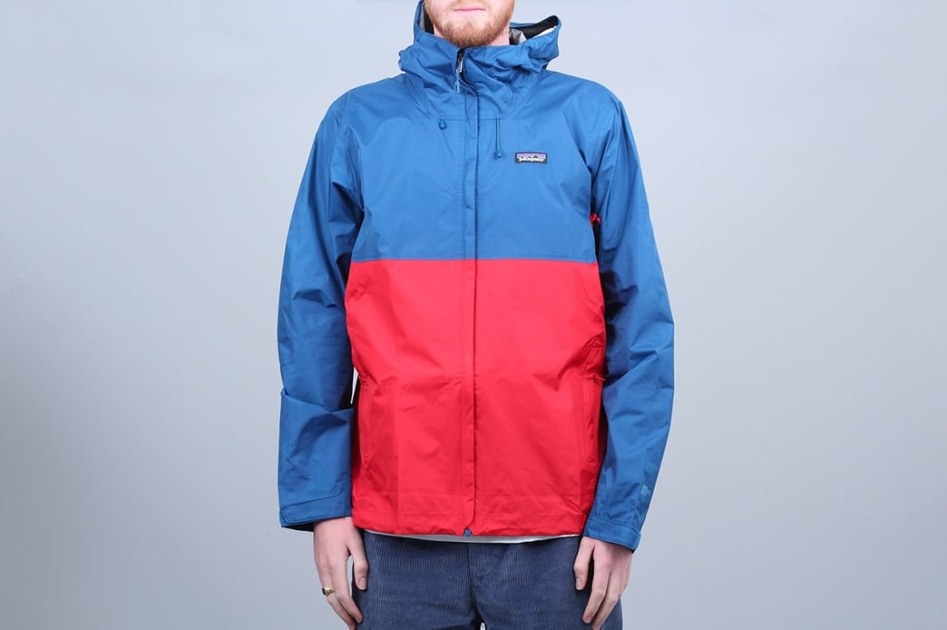 Patagonia Torrentshell Jacket Big Sur Blue W / Fire Red | Jacket by Patagonia 1
