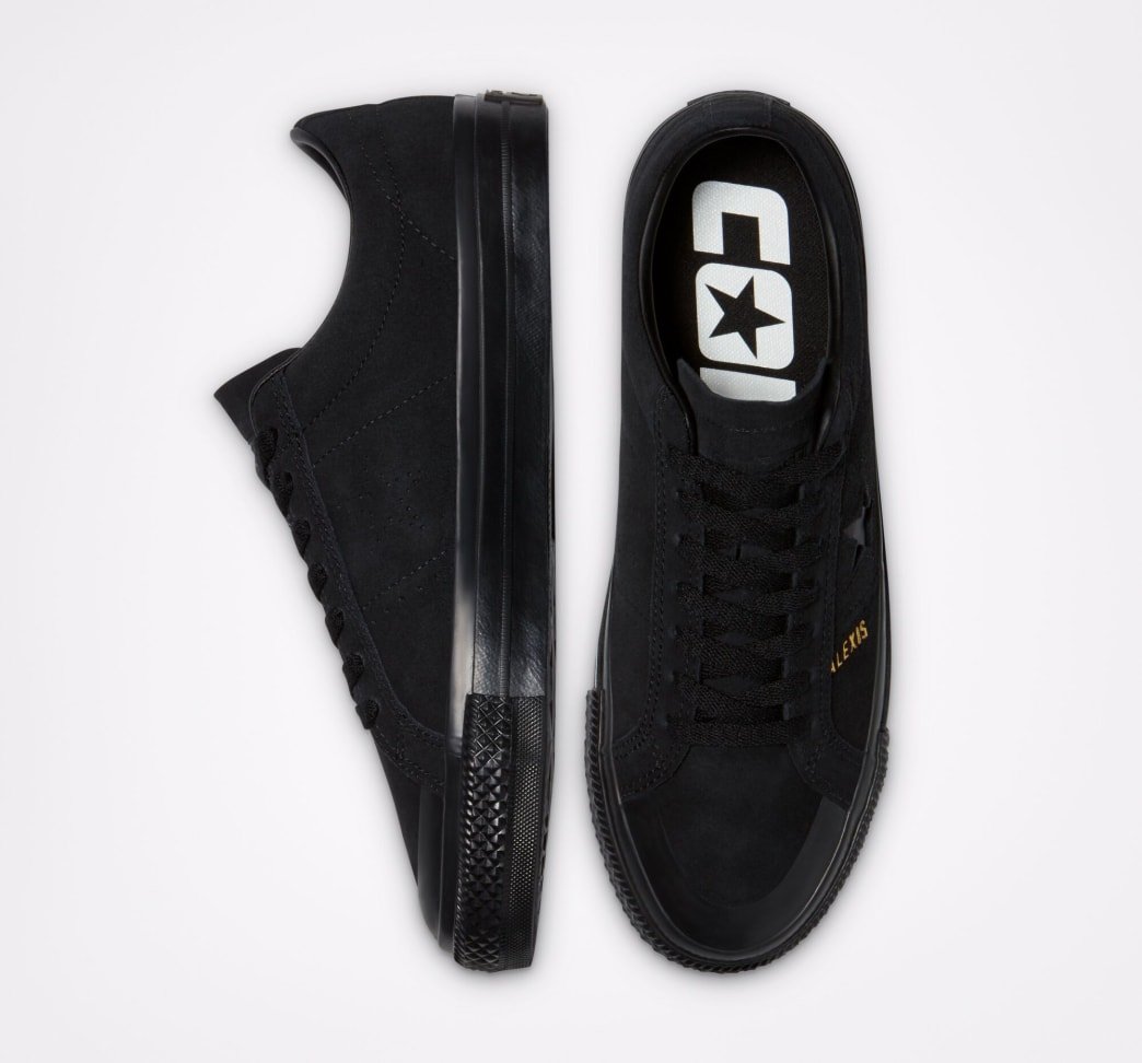Converse CONS One Star Pro AS Low Top Shoes - Black / Black / Black   Shoes by Converse Cons 4