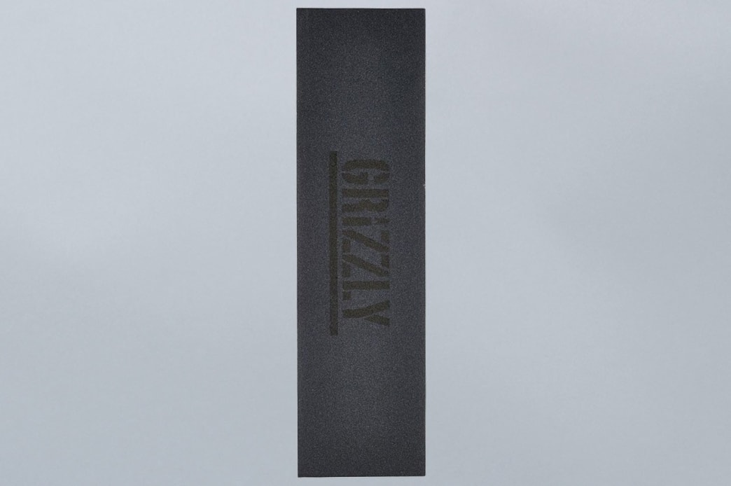 Grizzly Black Stamp Griptape Black | Griptape by Grizzly Griptape 1