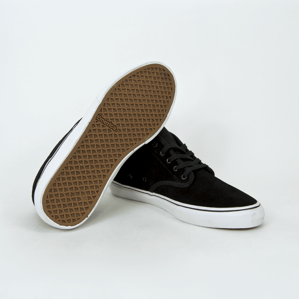 Emerica - Wino G6 Mid Shoes - Black / White / Gold | Shoes by Emerica 3