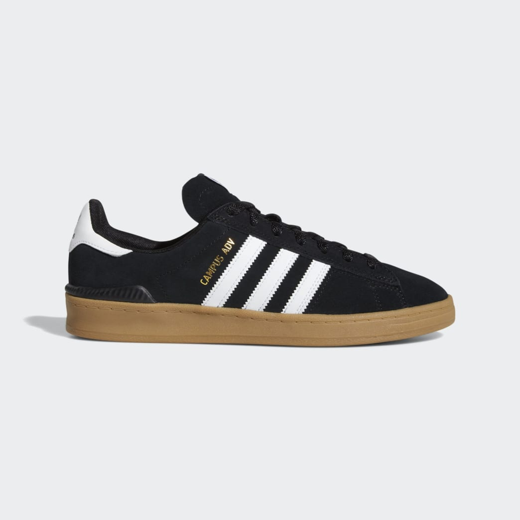 Adidas Campus ADV Shoes - Core Black/Cloud White/Gum 4 | Shoes by adidas Skateboarding 1