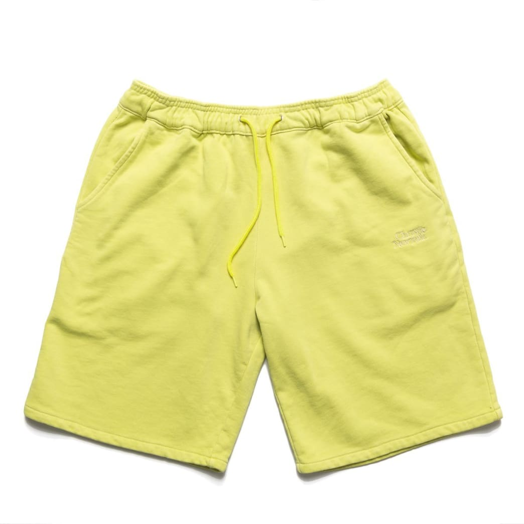 Chrystie NYC Garment Dye Classic Logo French Terry Sweat Shorts - Apple Green   Shorts by Chrystie NYC 1