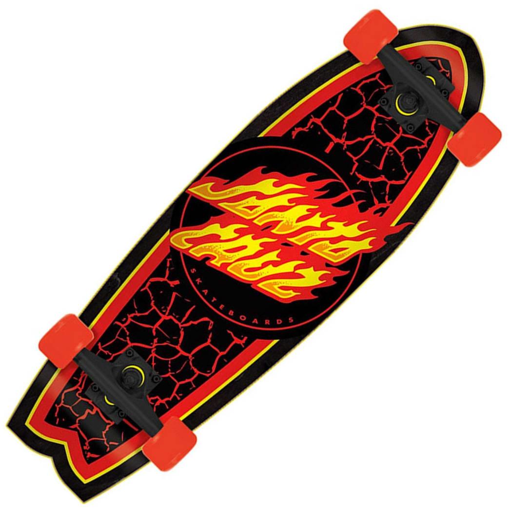 Santa Cruz Flame Dot Shark Cruzer 8.8 | Cruiser Skateboard by Santa Cruz Skateboards 1