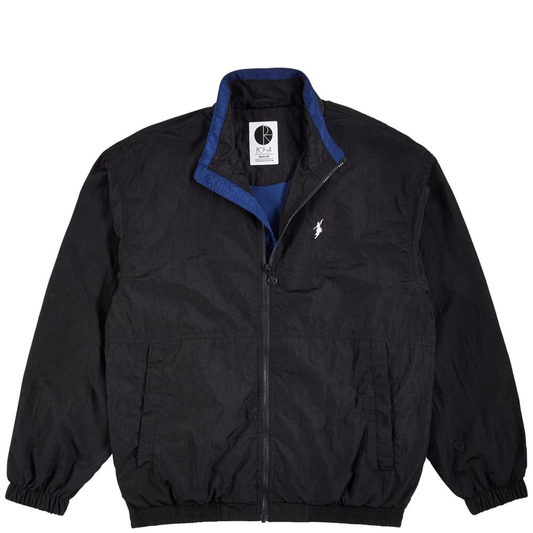 Polar Skate Co Track Jacket - Black / Blue | Track Jacket by Polar Skate Co 1