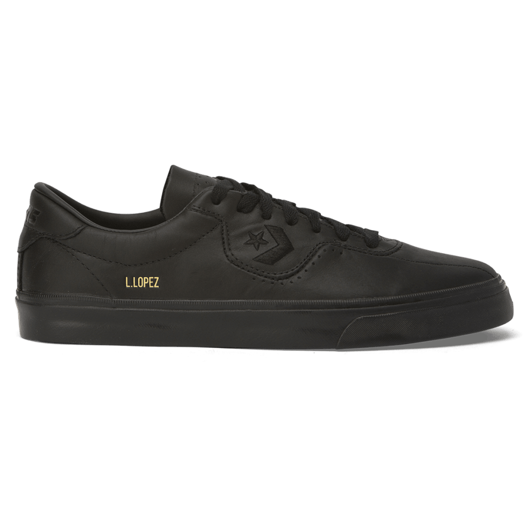 Converse Cons Leather Louie Lopez Pro Skateboarding Shoes - Black/Black/Black | Shoes by Converse Cons 1