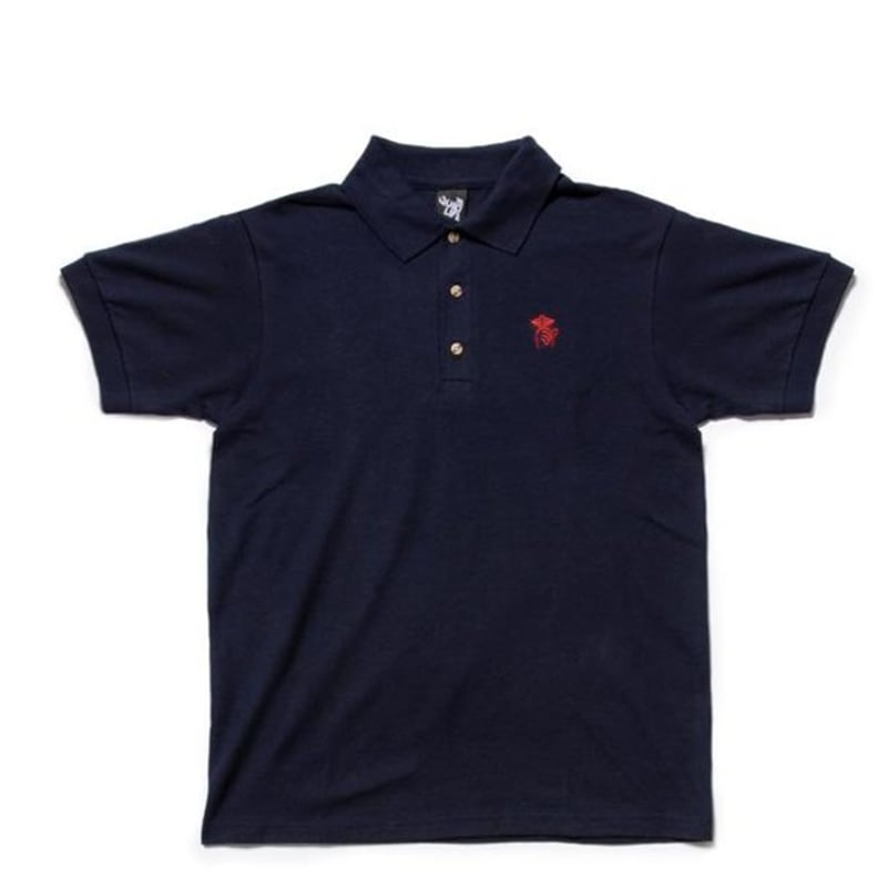 Quiet Life Shhh Polo Shirt - Navy | Polo Shirt by The Quiet Life 1
