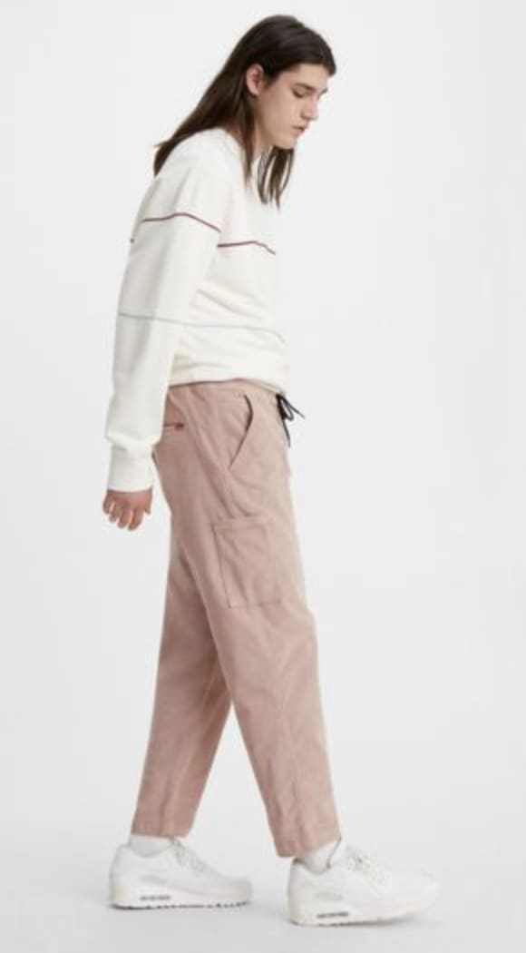 Levi's Pull On Taper Corduroy Pant II - Fawn (Blush) | Chinos by Levi's Skateboarding 3