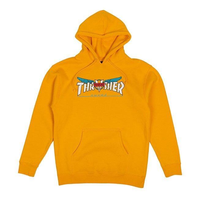 Thrasher Venture Collab Hoodie - Gold | Sweatshirt by Thrasher 1