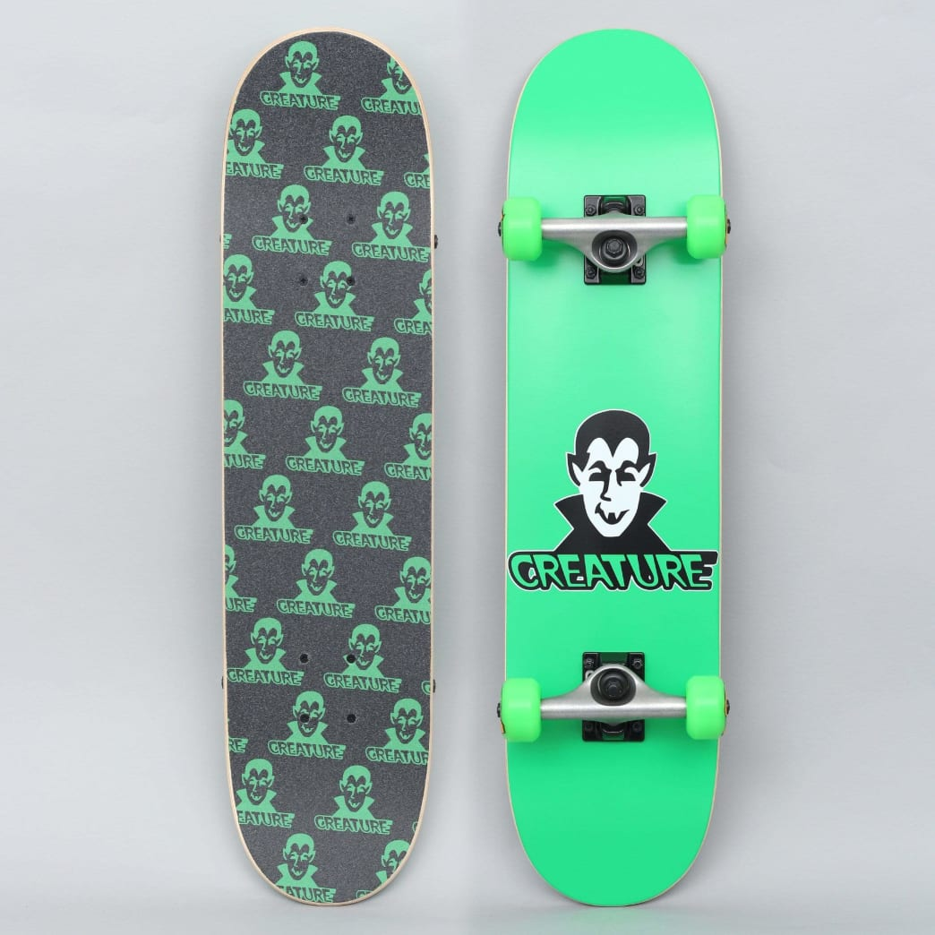 Creature 7.25 Vamp Mini Complete Skateboard Green | Complete Skateboard by Creature Skateboards 1