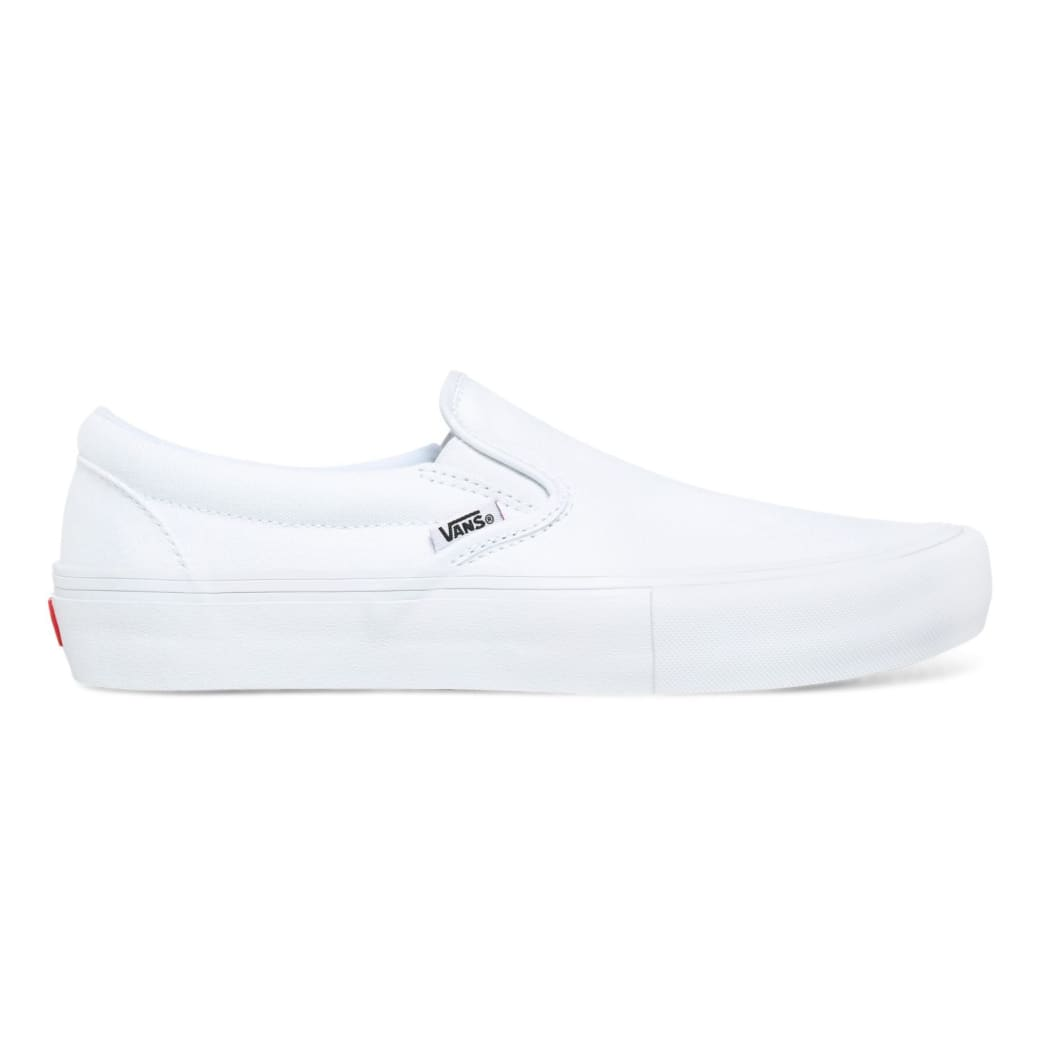 Vans Slip On Pro Skate Shoes - White / White   Shoes by Vans 1