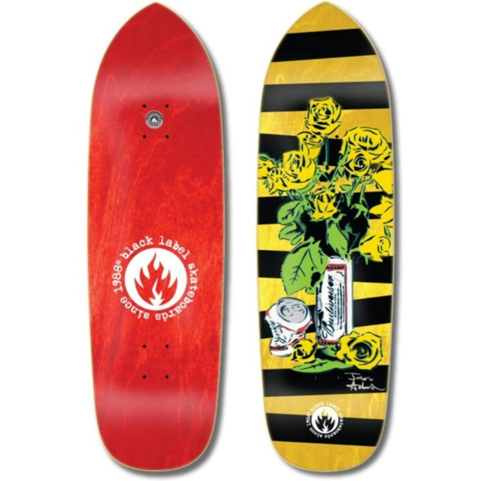 "Black Label Jason Adams Slim ""Beer & Roses"" Deck 8.6″ 