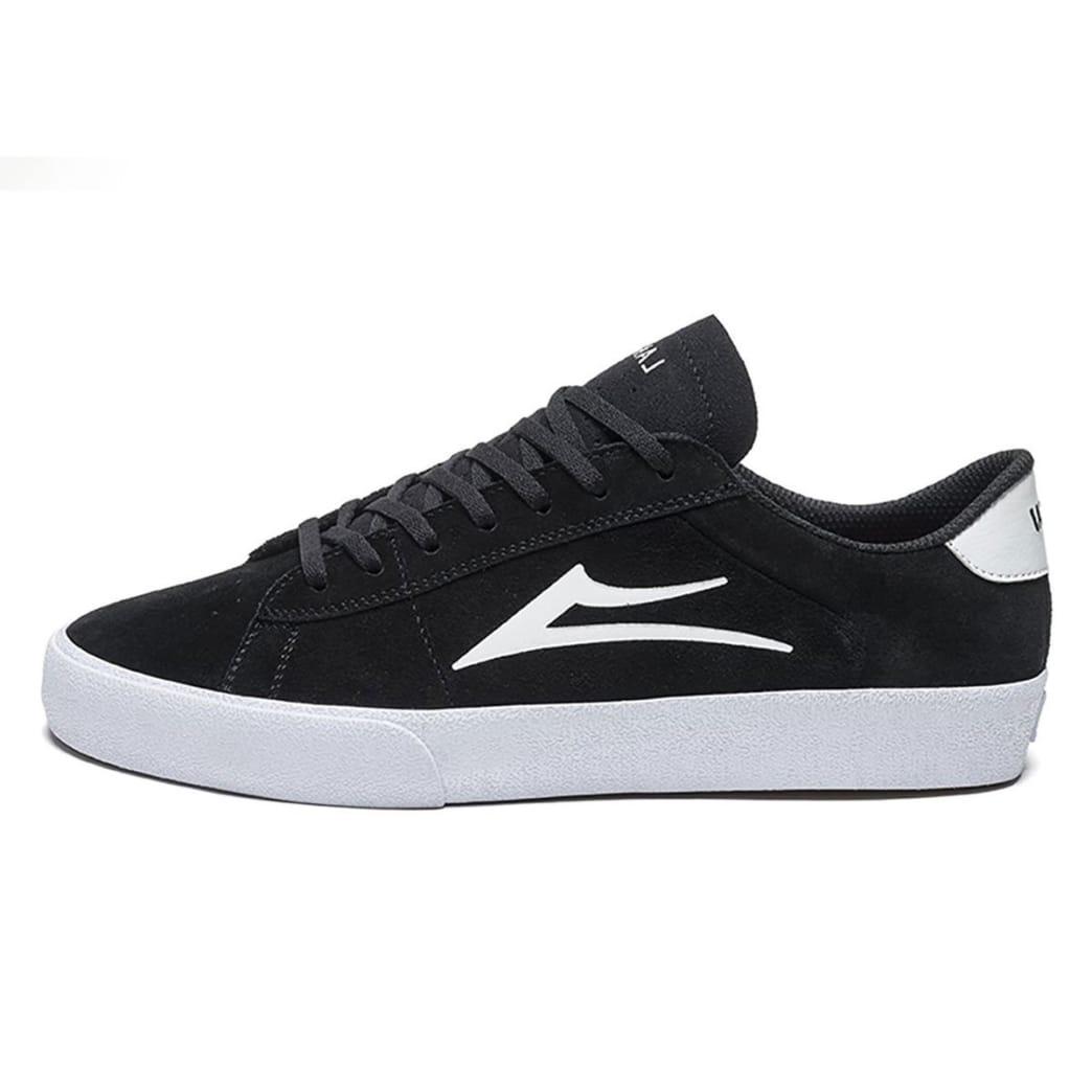 Lakai Newport Shoes - Black/White Suede | Shoes by Lakai 1