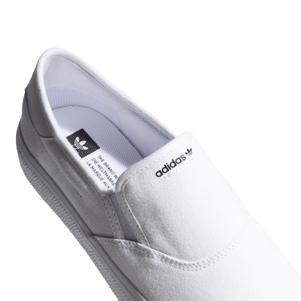 adidas 3MC Slip-On Skate Shoes - Cloud White / Cloud White / Core Black | Shoes by adidas Skateboarding 7