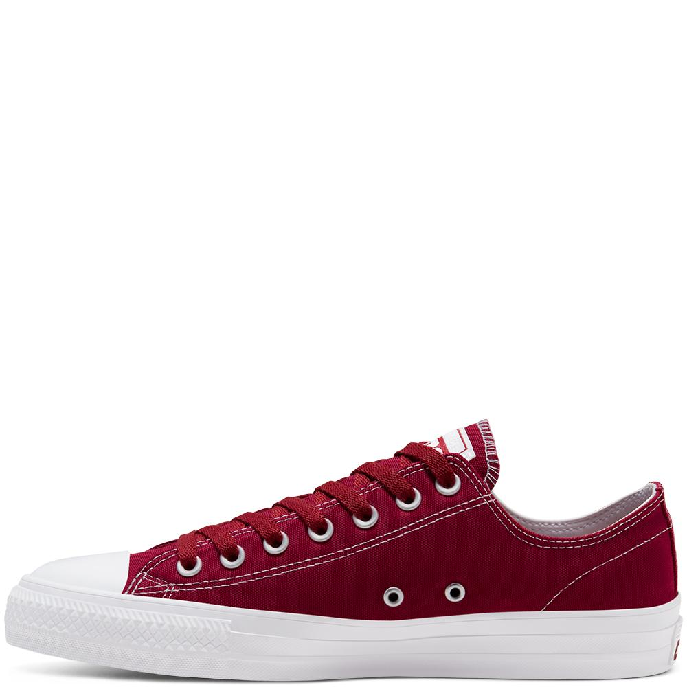 Converse Cons Suede Ollie Patch CTAS Pro Low Skate Shoes - Team Red / White / White | Shoes by Converse Cons 2