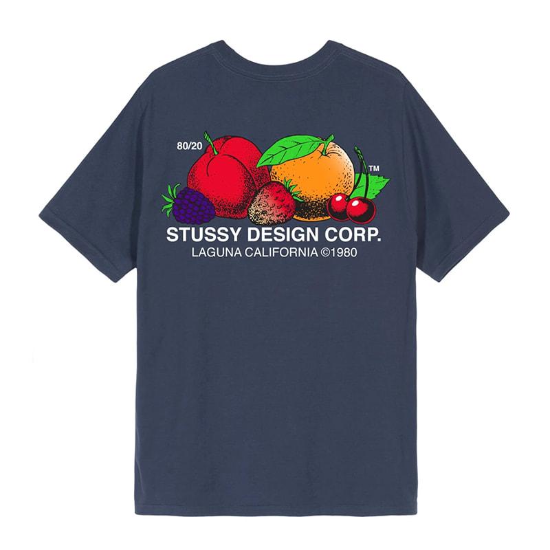 Stussy Fresh Fruit T-Shirt - Navy | T-Shirt by Stussy 1