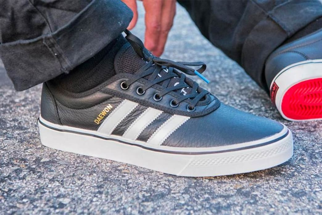 sale retailer 2b6d7 73f03 Adidas Daewon Song Adi-Ease Shoes - Black White Gold   Shoes by