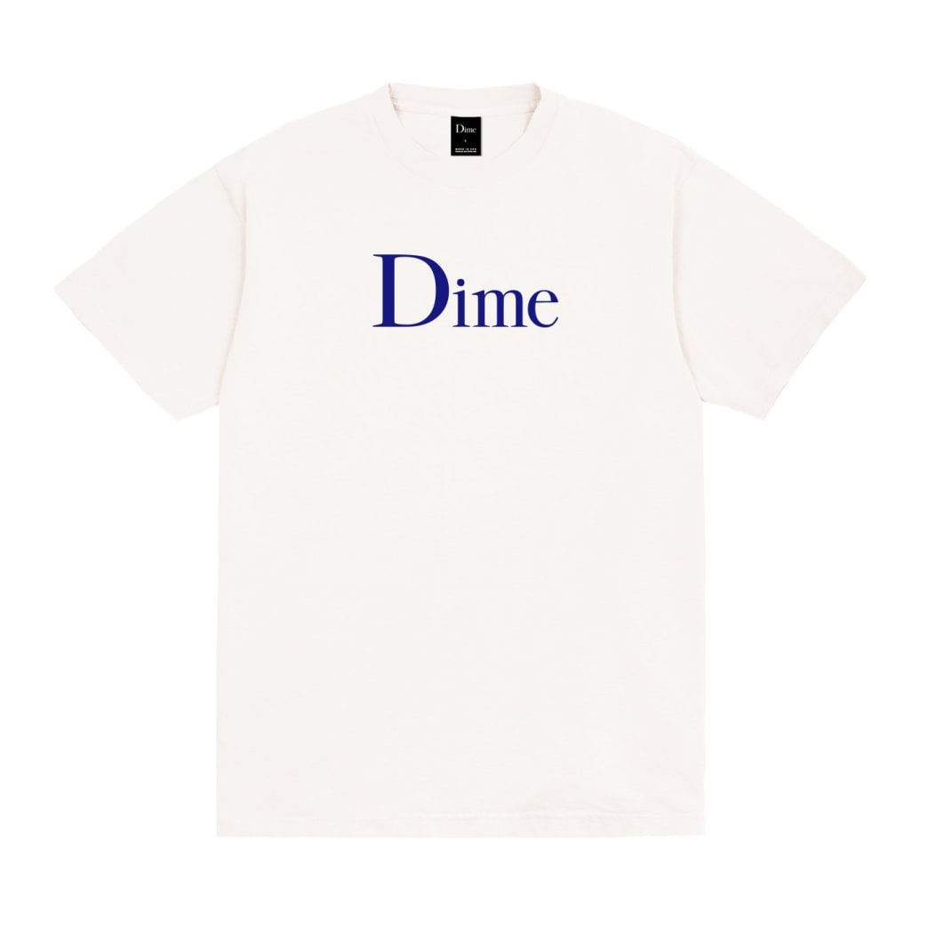 Dime Classic Logo T-Shirt - Off White | T-Shirt by Dime MTL 1