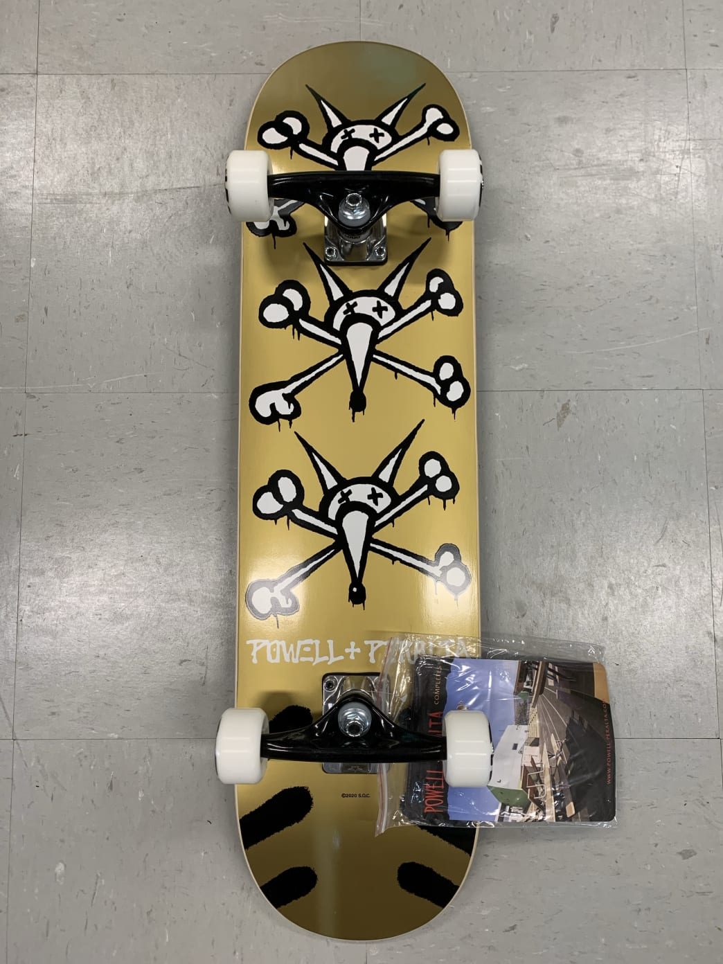 Powell Peralta Skateboards Vato Rat Complete Gold 8.0 | Complete Skateboard by Powell Peralta 1