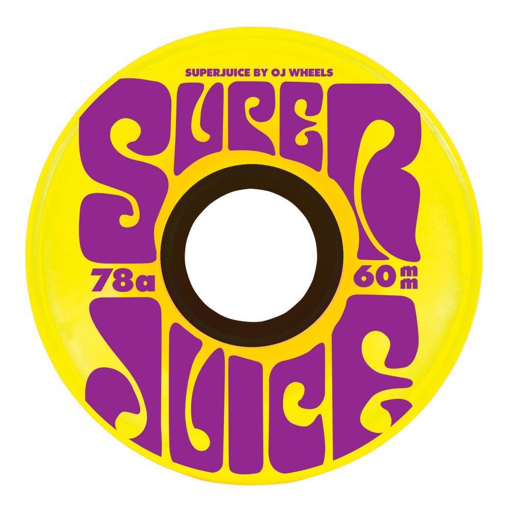 OJ Wheels Super Juice 78A Skateboard Wheels Yellow - 60mm | Wheels by Oj Wheels 1