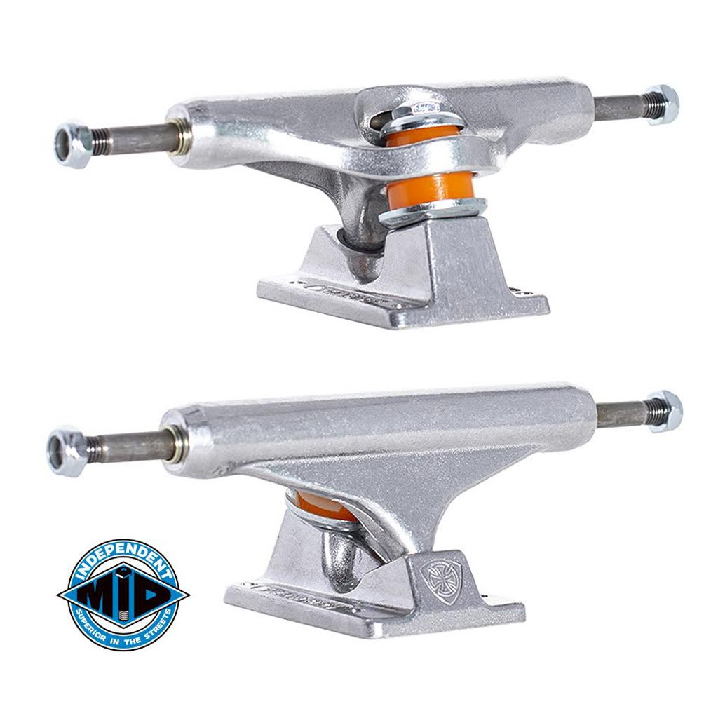 Independent Mid Skateboard Truck Polished Silver - 144   Trucks by Independent Trucks 1