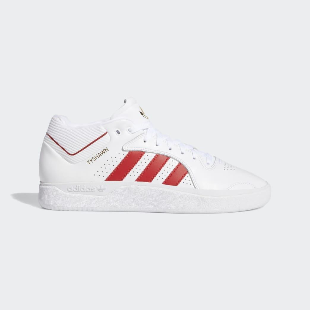 adidas Tyshawn Jones Shoes - FTWR White/Scarlett/FTWR White | Shoes by adidas Skateboarding 1