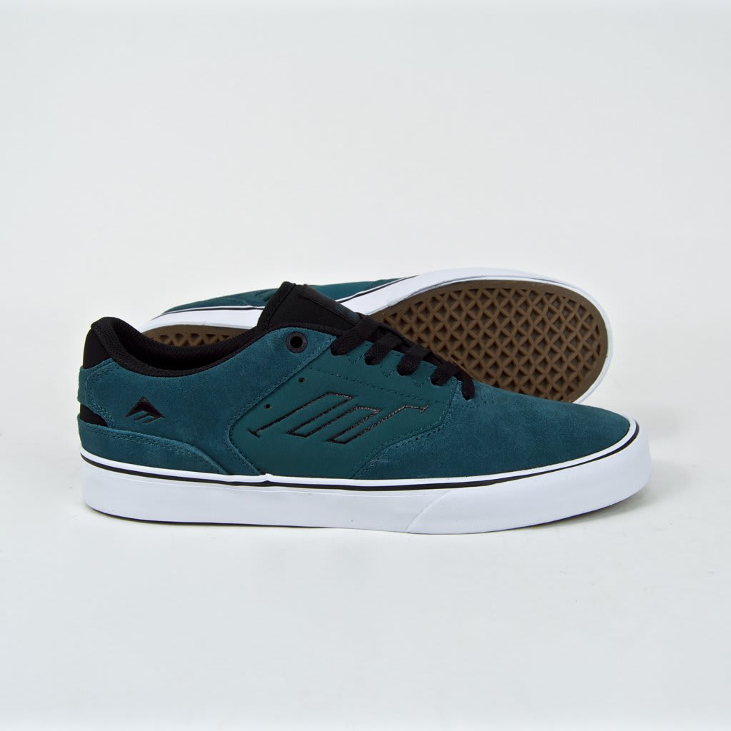 Emerica The Reynolds Low Vulc Skate Shoes - Teal / Black   Shoes by Emerica 3