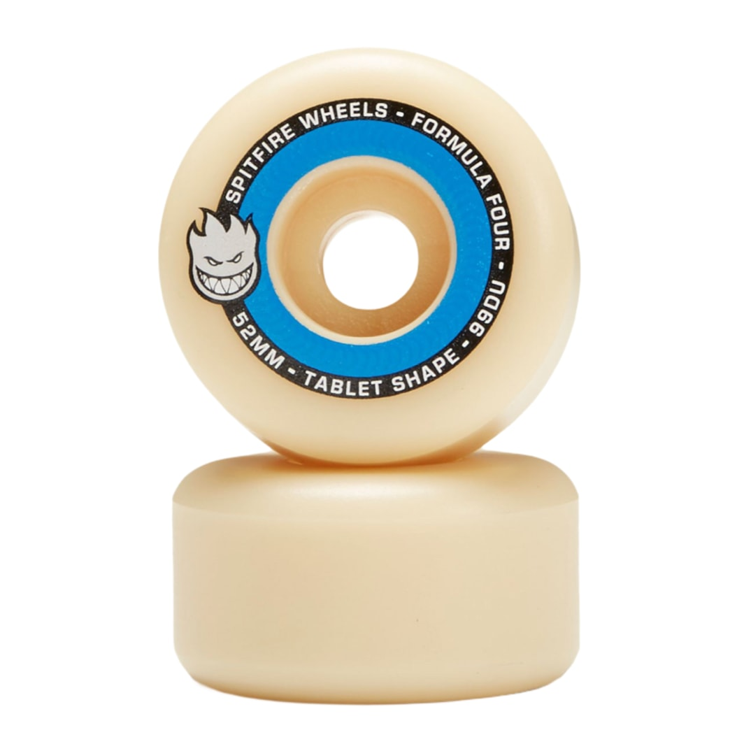 SPITFIRE WHEELS F4 TABLETS 52MM 99A - NATURAL/BLUE SET | Wheels by Spitfire Wheels 2