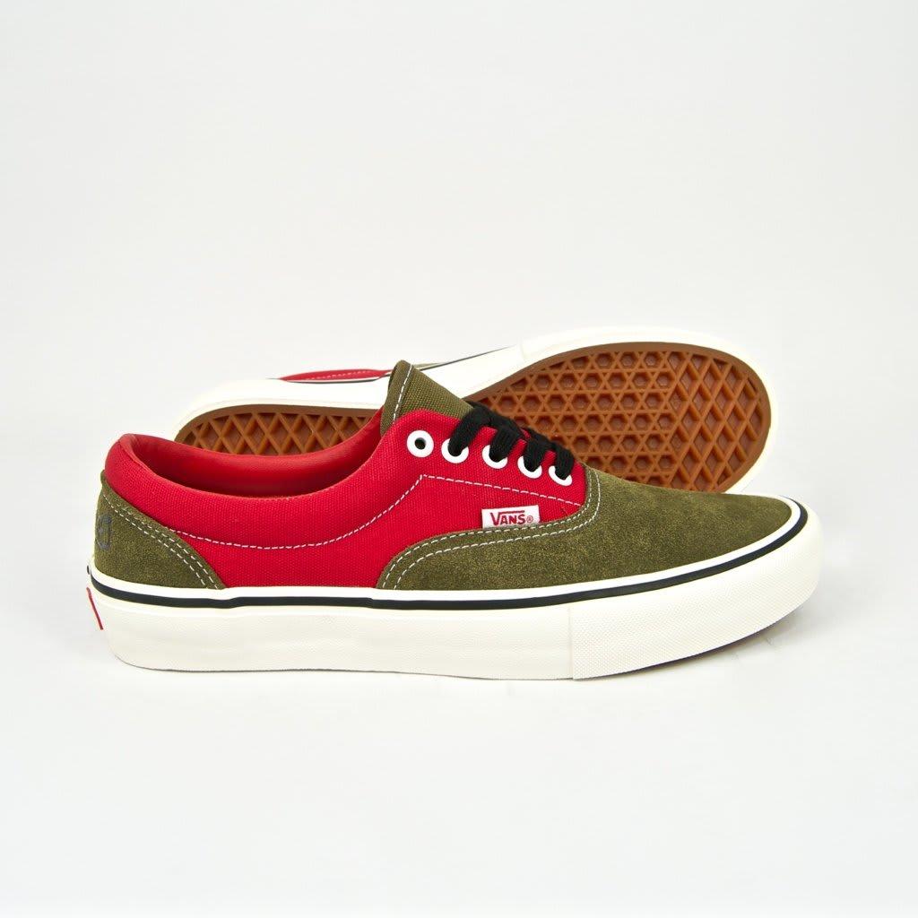 Vans x Lotties Era Pro LTD Skate Shoes - Red / Military | Shoes by Vans 2