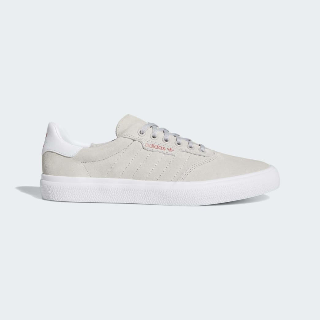 Adidas 3MC Vulc Shoes - Grey Two/FTWR White/Scarlet | Shoes by adidas Skateboarding 1