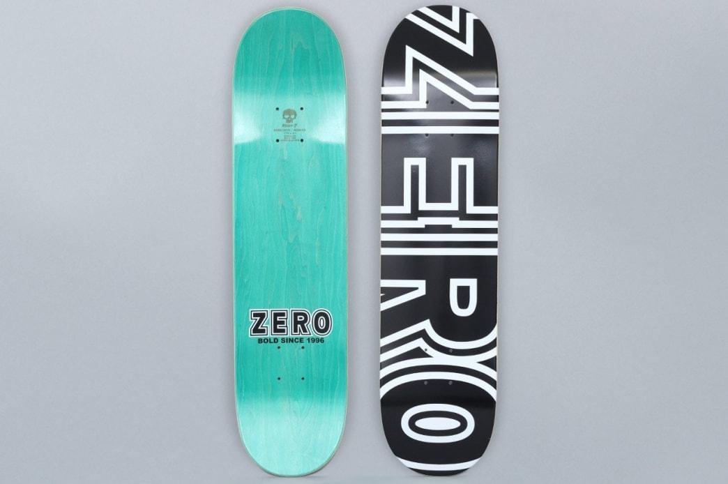 7dd3ae87a4b2dd Zero 7.75 Bold Skateboard Deck Black / White | Deck by Zero Skateboards 1