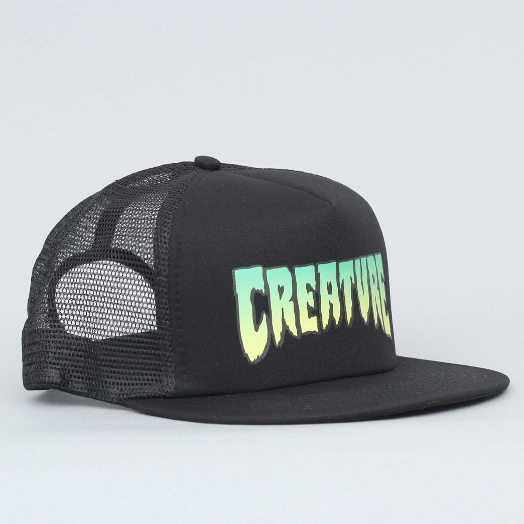 Creature Logo Mesh Cap Black | Baseball Cap by Creature Skateboards 1